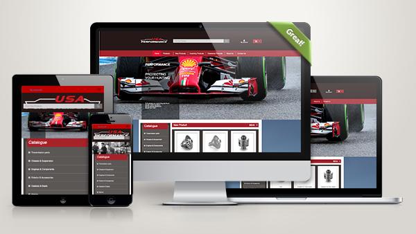 企业外贸网站建设案例:USA Performance