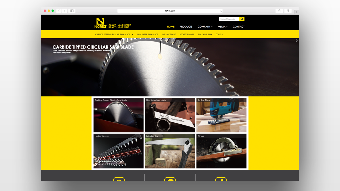 五金工具外贸企业网站模板