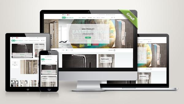 卫浴洁具外贸公司网站模板