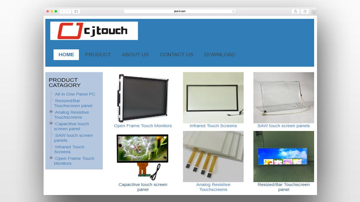 显示屏外贸网站模板