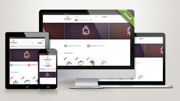 珠宝企业商城网站模板